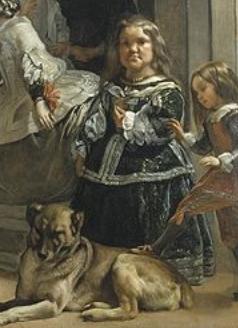 Los enanos Mirabárbola y Nicolasito, detalle de Las Meninas de Velázquez