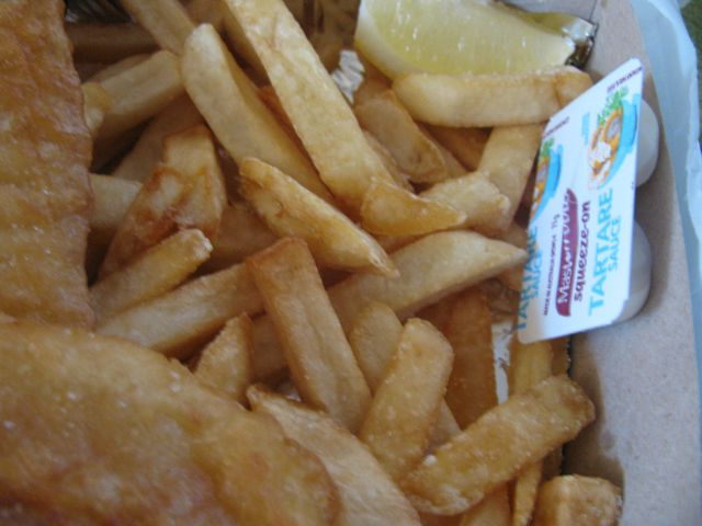 how to serve fish and chips