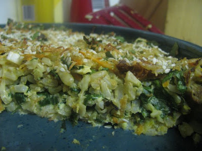 Spinach Rice Gratin