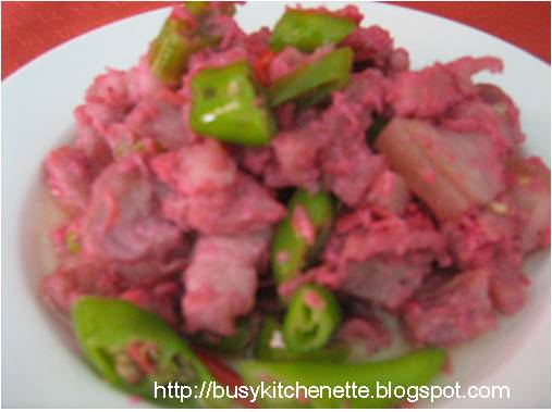 how to cook bicol express with bagoong