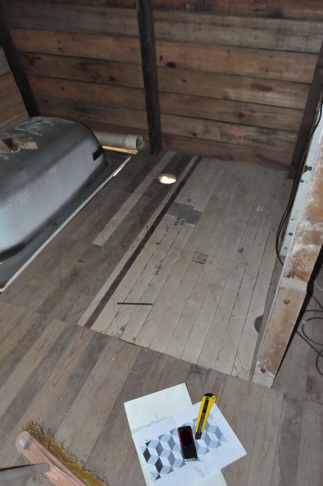 Casita para pintar el piso del ba o 2 - Pintar el piso ...