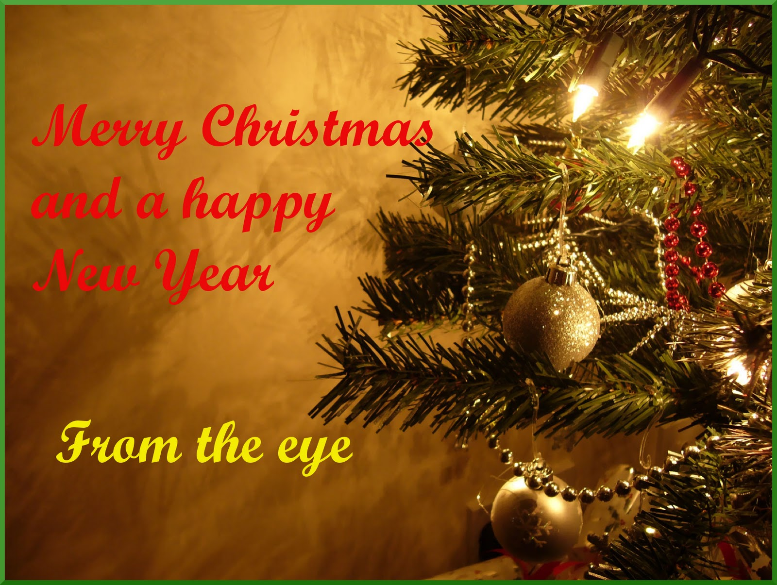 The Tigers Eye Merry Christmas To All