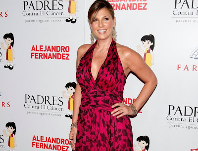 Photo of Daisy Fuentes in a floral dress