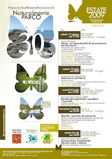 Locandina Trentennale Parco MSRM iniziative Viareggio