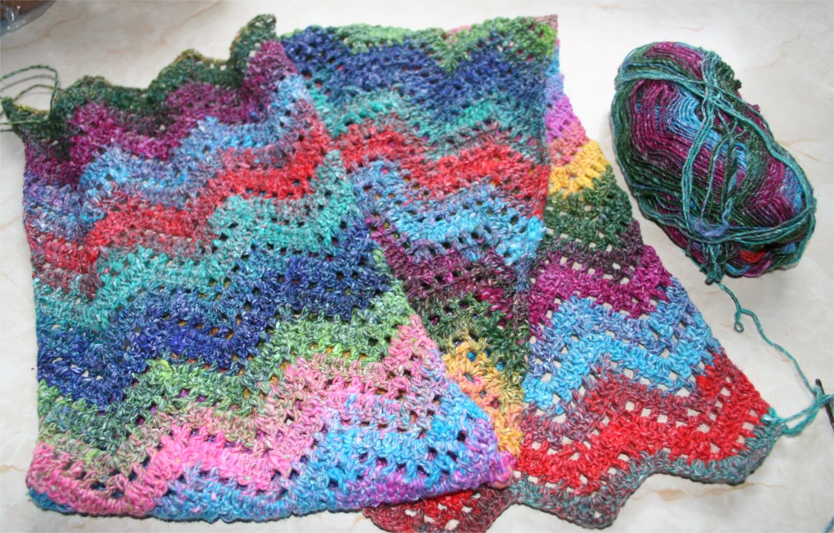 AG mode: New Double-ended crochet design - On the bias scarf