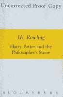 Harry Potter and the Philosopher's Stone by J. K. Rowling UK edition uncorrected proof front cover