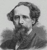 Charles Dickens black and white engraving