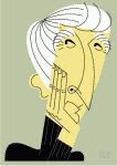 color caricature of John Updike