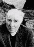 black and white photograph of John Updike circa 2004