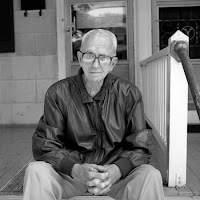 James Michener black and white photograph by John Hoenstine
