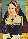 A color photo of a painting of Catherine of Aragon.