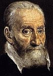 A color photo of a section of the portrait of Giorgio Giulio Clovio by El Greco about 1570 CE.