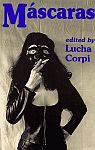 A color photo of the front cover of 'Máscaras', edited by Lucha Corpi.