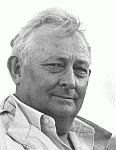 black and white photo of Tony Hillerman