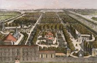 color print of Vauxhall Gardens London circa 1751