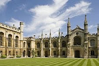 color photo of the front of the main building of Corpus Christi College, Cambridge