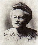 black and white photo of Fannie Merritt Farmer