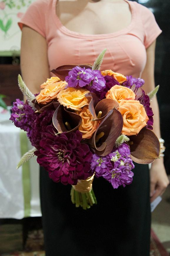 Wedding Flowers from Springwell: October Wedding Bouquets in Jewel ...