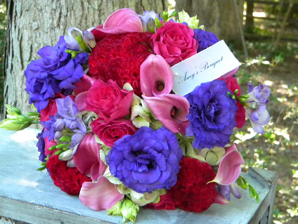 Wedding Flowers From Springwell Wedding Bouquets In Purple Part I