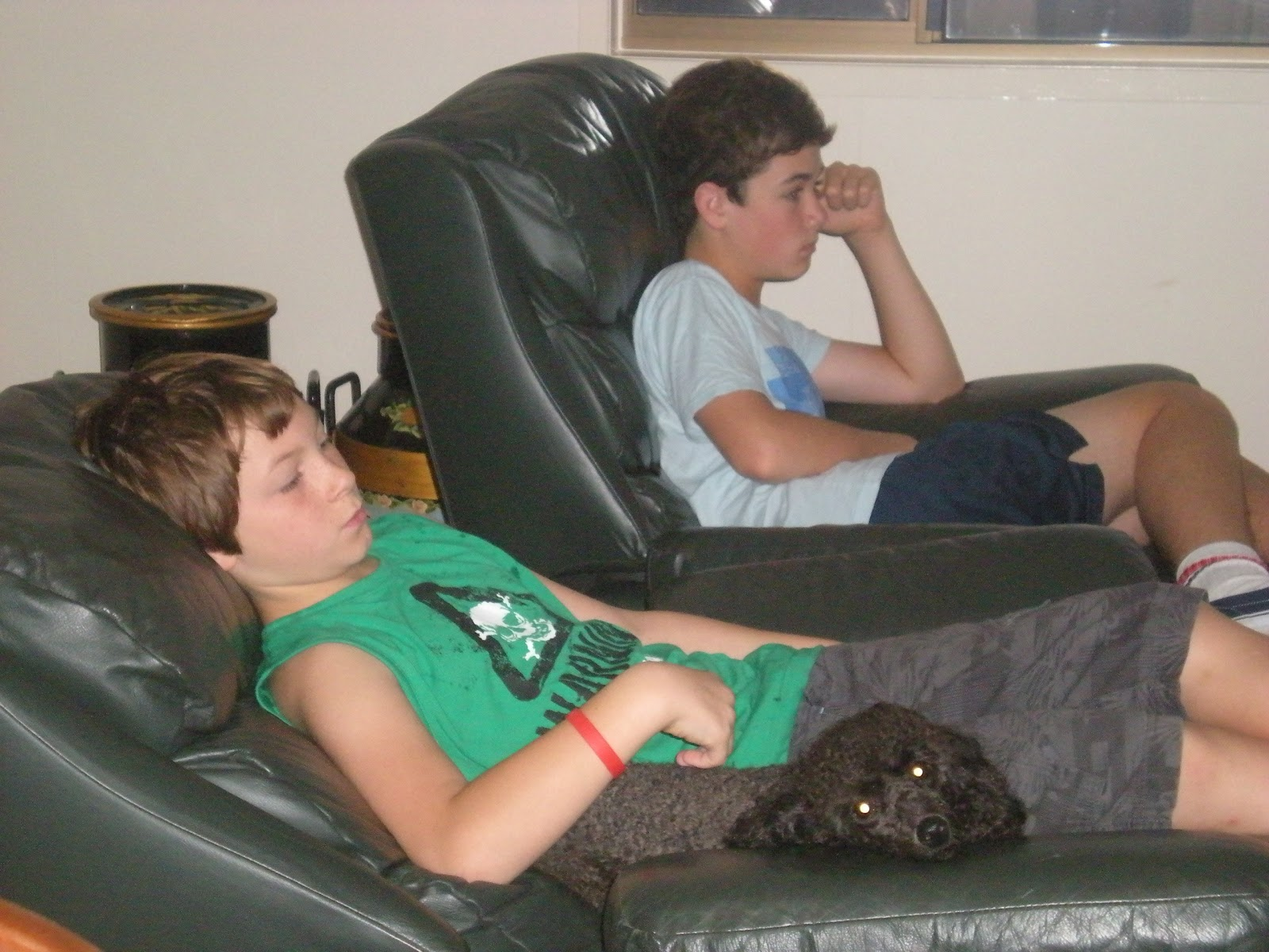 we watched loads of sport on the telly some male bonding going on