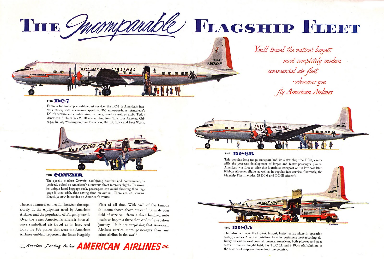 Transpress nz american airlines aircraft 1954 for American airlines plane types