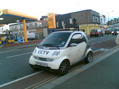 Photo of CCTV Smart car parked on doiuble yellow lines!