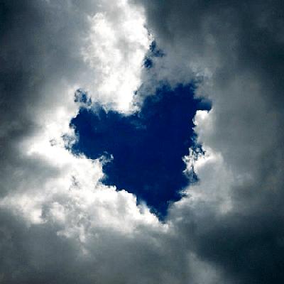 coração nas nuvens,pensando em você