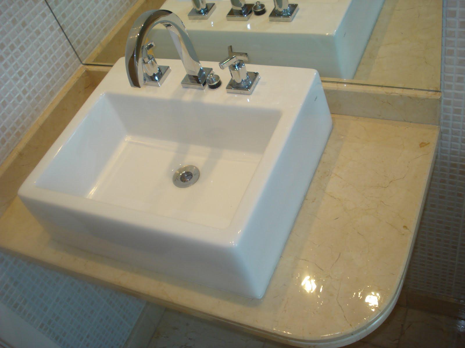 marmore crema marfil #7C6C49 1600x1200 Bancada Banheiro Crema Marfil