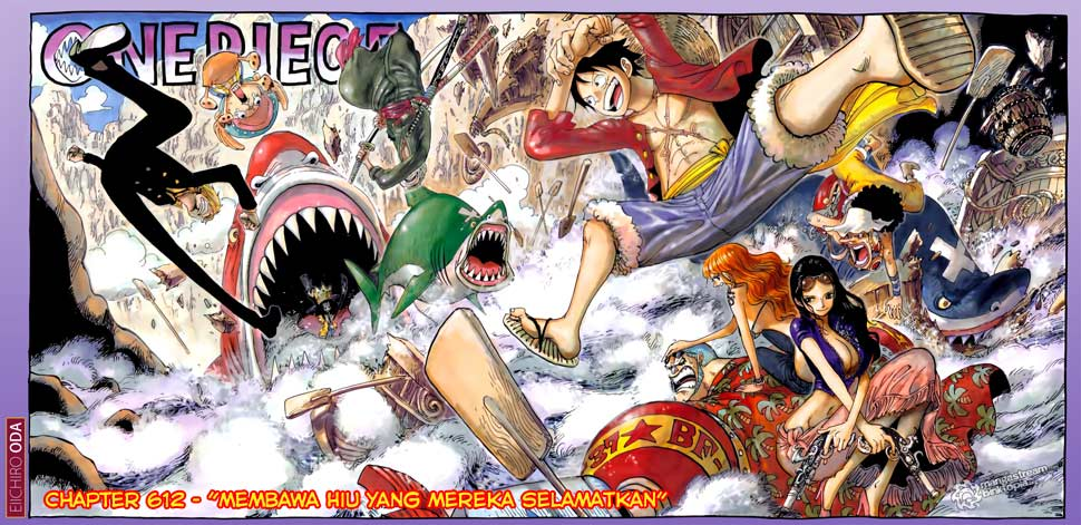 00b 00c One Piece 612   Membawa Hiu yang Diselamatkan
