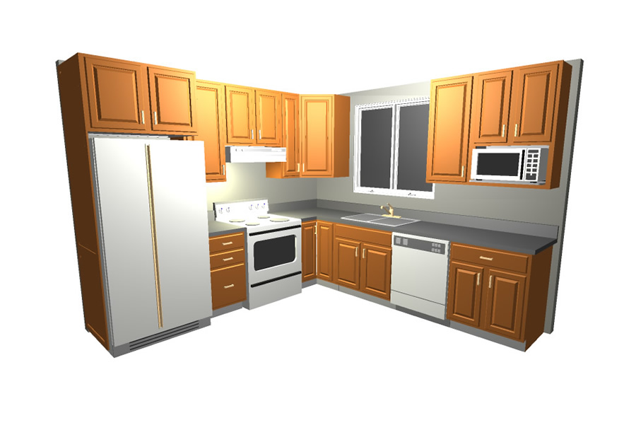 home furnishing kitchen cabinets arrangement