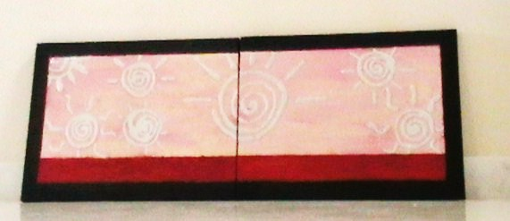 Soles plateados cuadros modernos pintados a mano for Cuadros modernos plateados