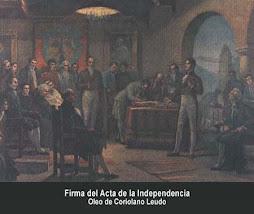 Firma del Acta de Independencia de Colombia