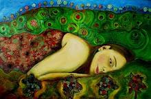 Girl in a Hundterwasser Landscape