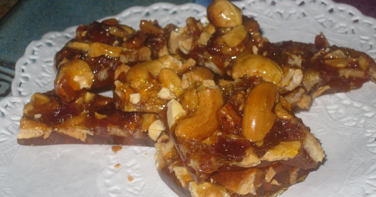 Foodies Notebook: Cashew Nut Brittle with Bacon