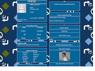 Blue Skinny Myspace Layout