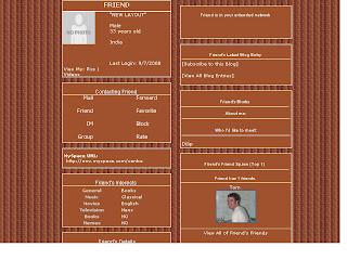 Brown skinny Myspace Layouts