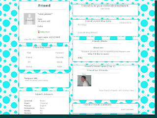 Polka Dot Myspace Layouts