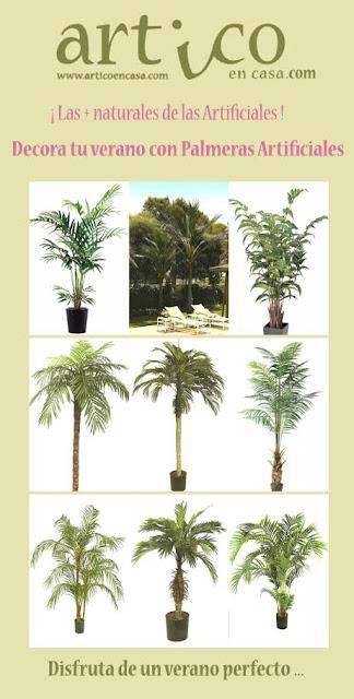 Decoraci n artico ideas y consejos con flores y plantas for Palmeras artificiales