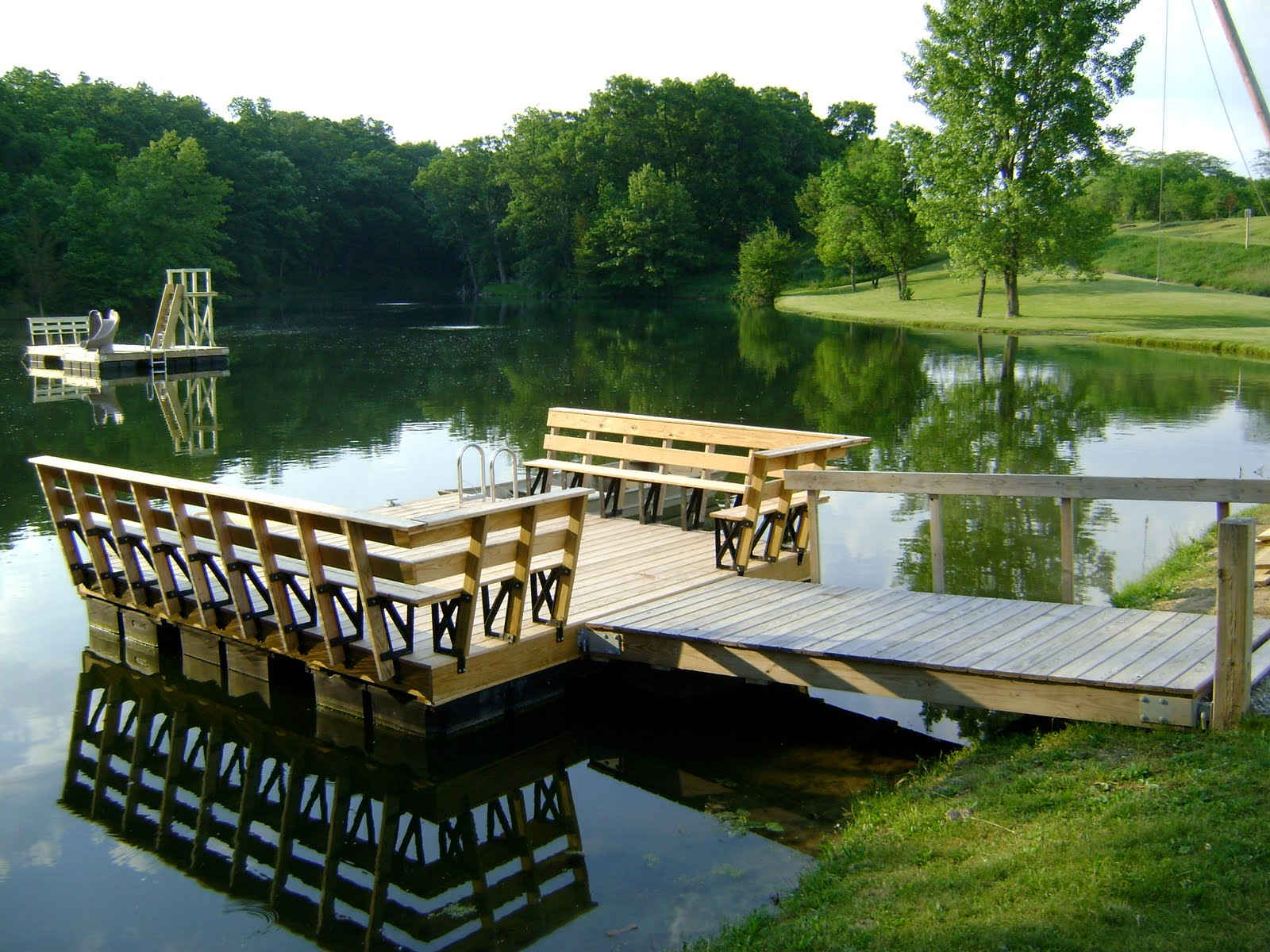 Herman brothers blog building floating docks for Pond pier plans