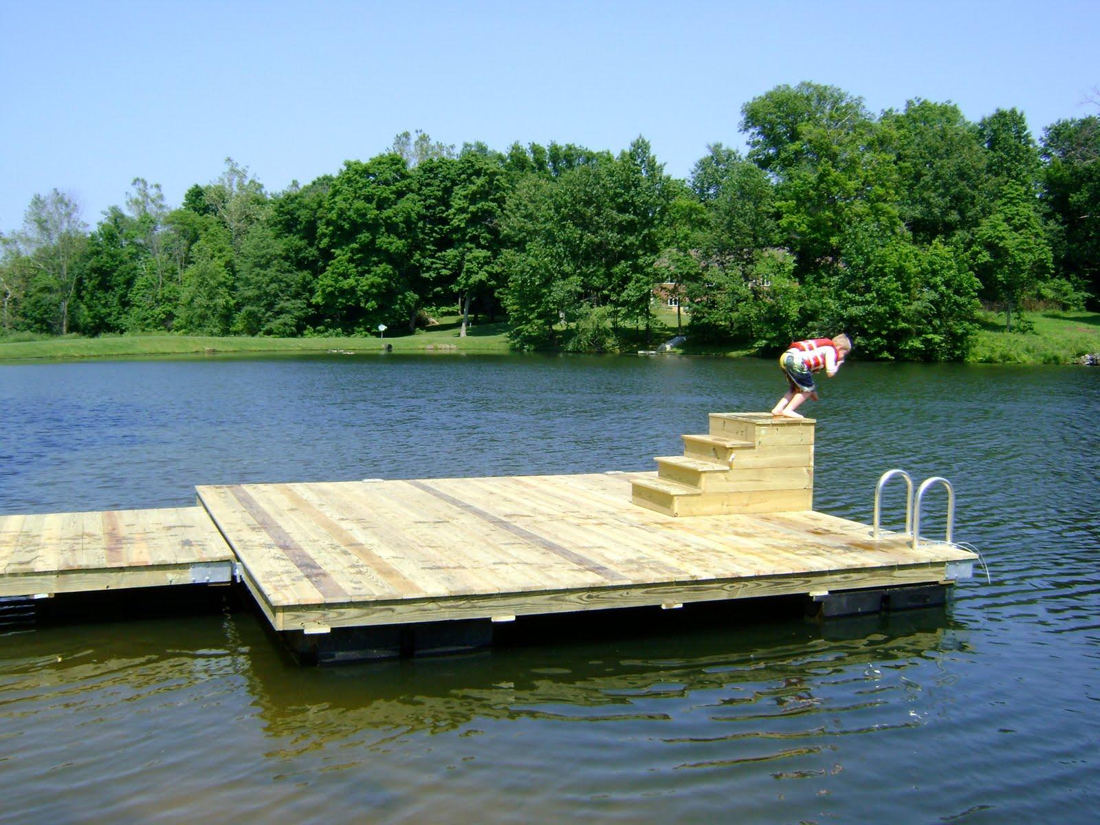 Herman brothers blog building floating docks for Floating fishing platform