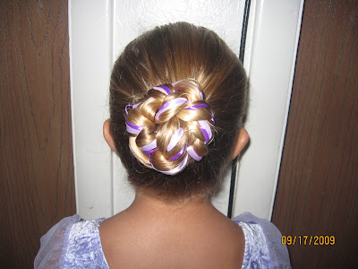 Rapunzel, let down your golden hair: Ballerina Bun with Ribbons