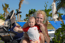 Mommy and Little Bear at the Pool in Grand Turk