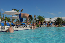 Todd catching the football in the pool at Grand Turk