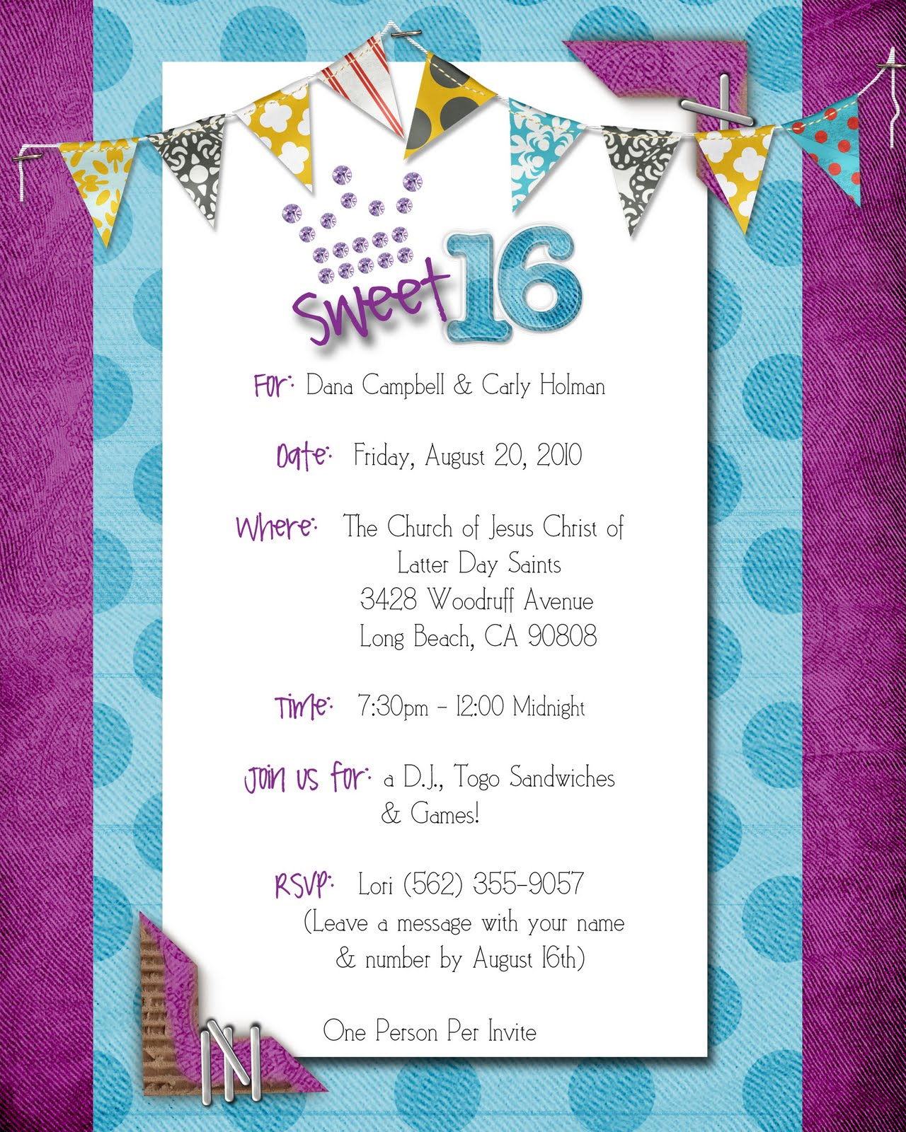Invitations For Sweet 15 was best invitations sample