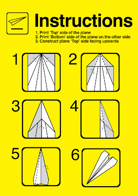 paper plane instructions with pictures