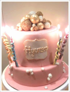 Pink and Bubbly Cake