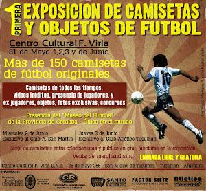 1ra EXPOSICION DE CAMISETAS Y OBJETOS DE FUTBOL