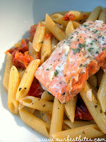 Quick and Easy Herb-Butter Penne with Salmon
