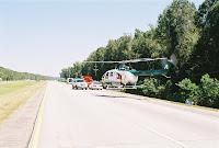 Air Ambulance Landing On I-59 in LA