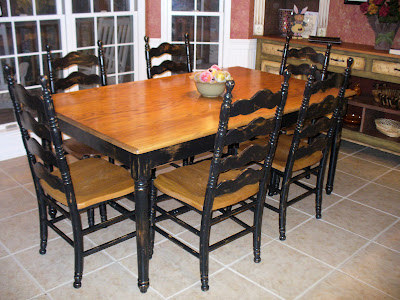Distressed Finish Dining Room Sets
